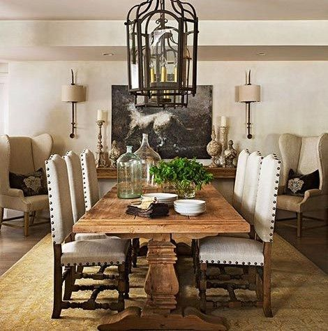 Dining Room Interior Design Adorable Neutraldiningroomdesignwithfarmstyleseatinge1433073647733 Review