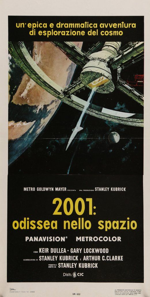 2001 A Space Odyssey 1968 1970s Vintage Theatrical Movie Poster From Italy Movie Posters Film Art Italian Movie Posters