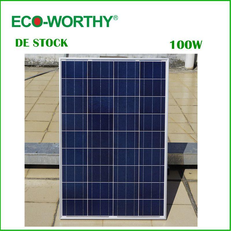 De Estoque No Imposto De 100 W 18 V Policristalino Do Painel Solar Para 12 V Bateria Fora Da Grade Sistema De Energi Solar Panels Solar Panel Cost House System