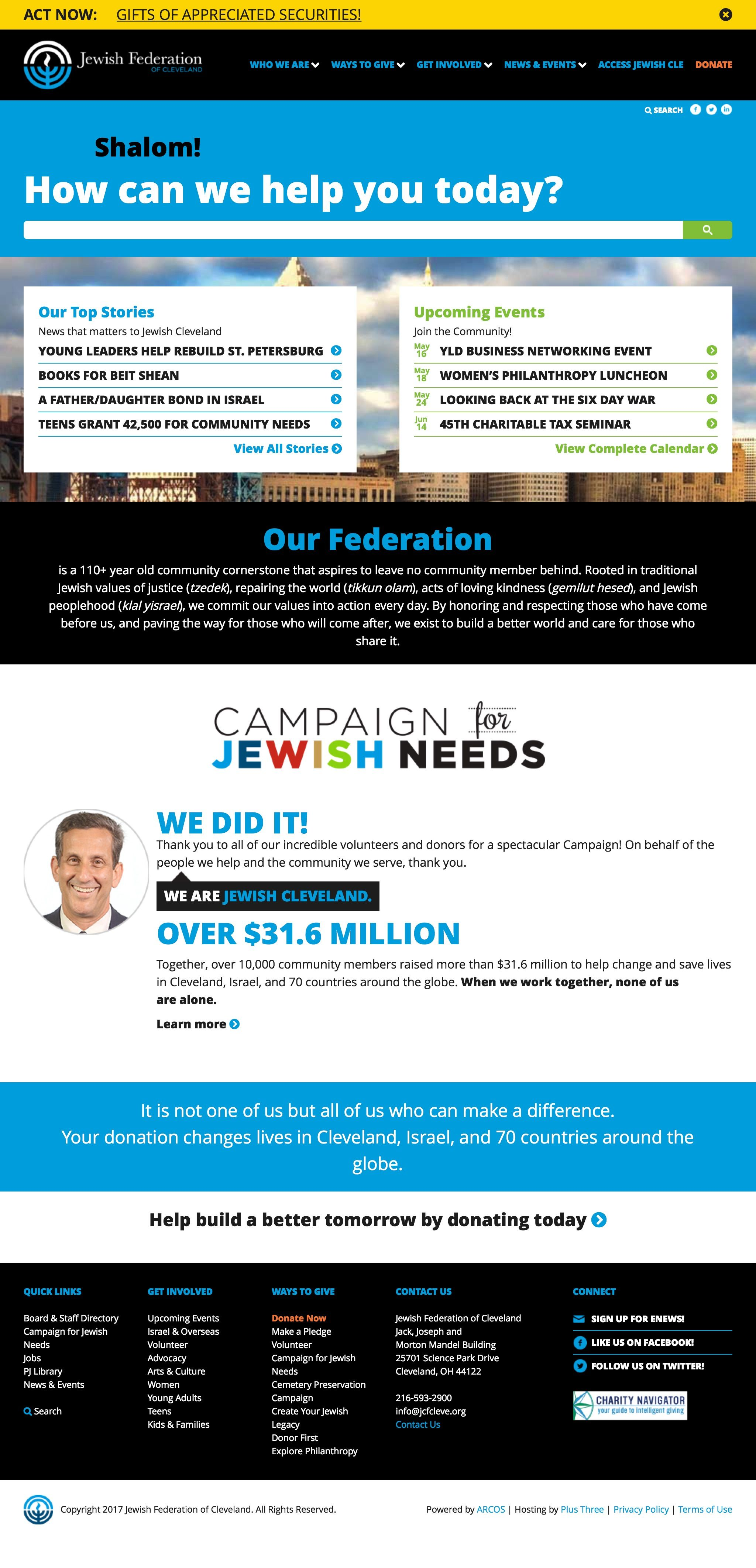 Jewish Cleveland Website Profitable Fundraisers Young Leaders Community