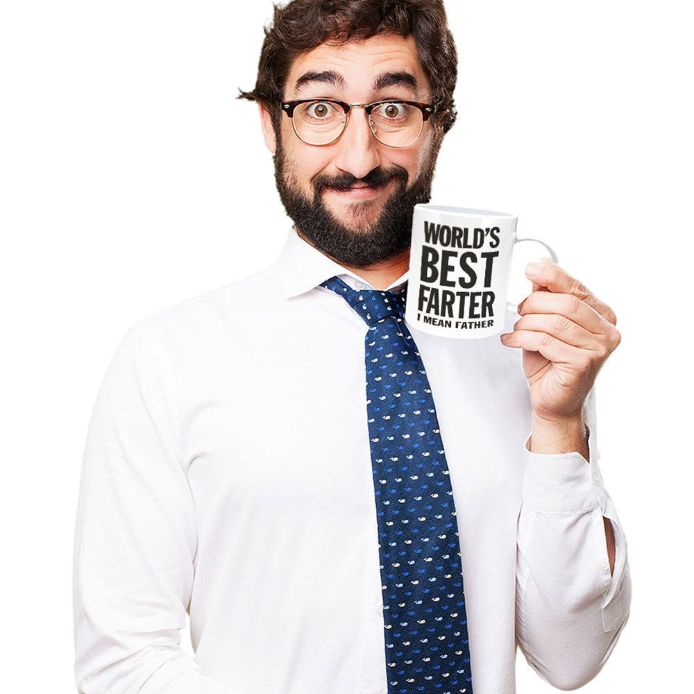 Funny Father's Day Gift Idea World's Best Farter I Mean Father Ceramic