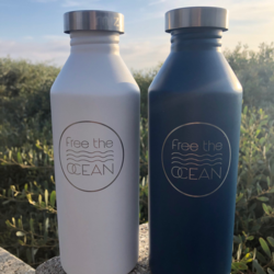Free the Ocean Stainless Steel Water Bottle