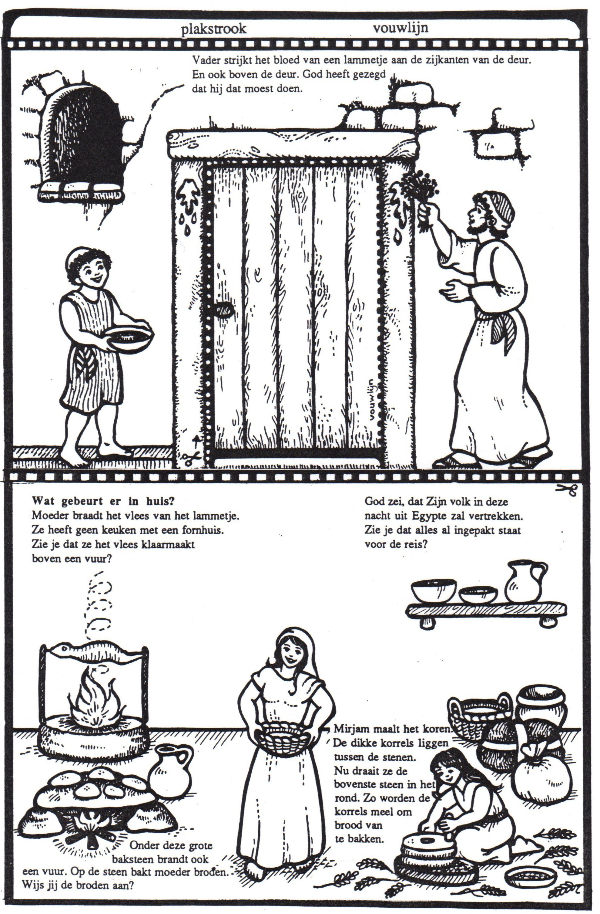 the first passover in egypt sunday coloring u0026 craft