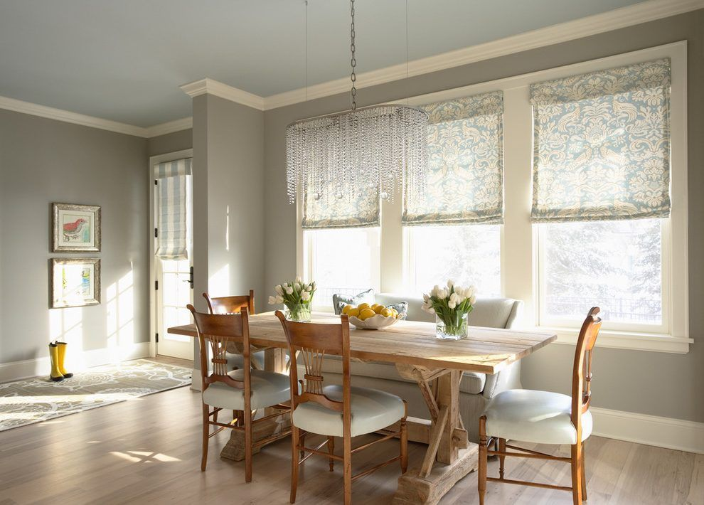 Farmhouse Interior Paint Colors Dining Room Traditional With Northern Cliffs Glass Chandelier Design
