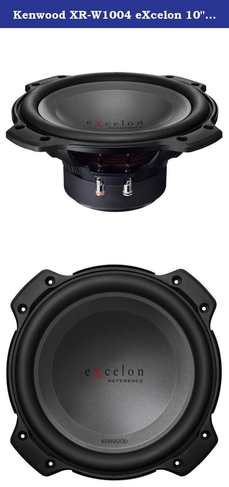 "Kenwood XR-W1004 eXcelon 10"" Oversized Subwoofer. 1000W Max 10"" Single 4-ohm voice coil Oversized Car Subwoofer."