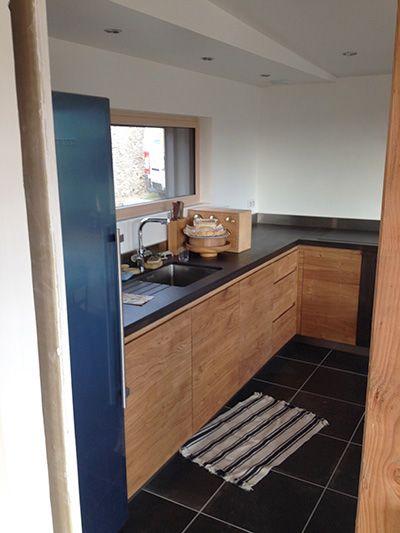 cuisine fa ade ch ne noeud et plan de travail avec. Black Bedroom Furniture Sets. Home Design Ideas