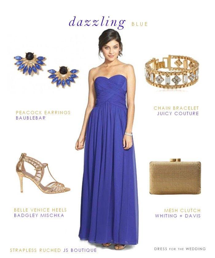 Dazzling Blue Gown | Vestidos boda, Boda y Vestiditos