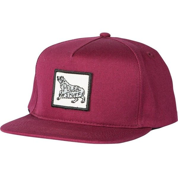 ffac43d3ba5 Poler Poler Wolf Snapback Hat ( 28) ❤ liked on Polyvore featuring  accessories