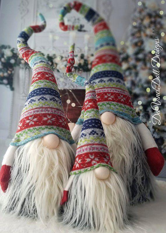 Christmas Gnomes Pinterest.Xl Med Christmas Gnome Troll Elf Scandinavian Santa