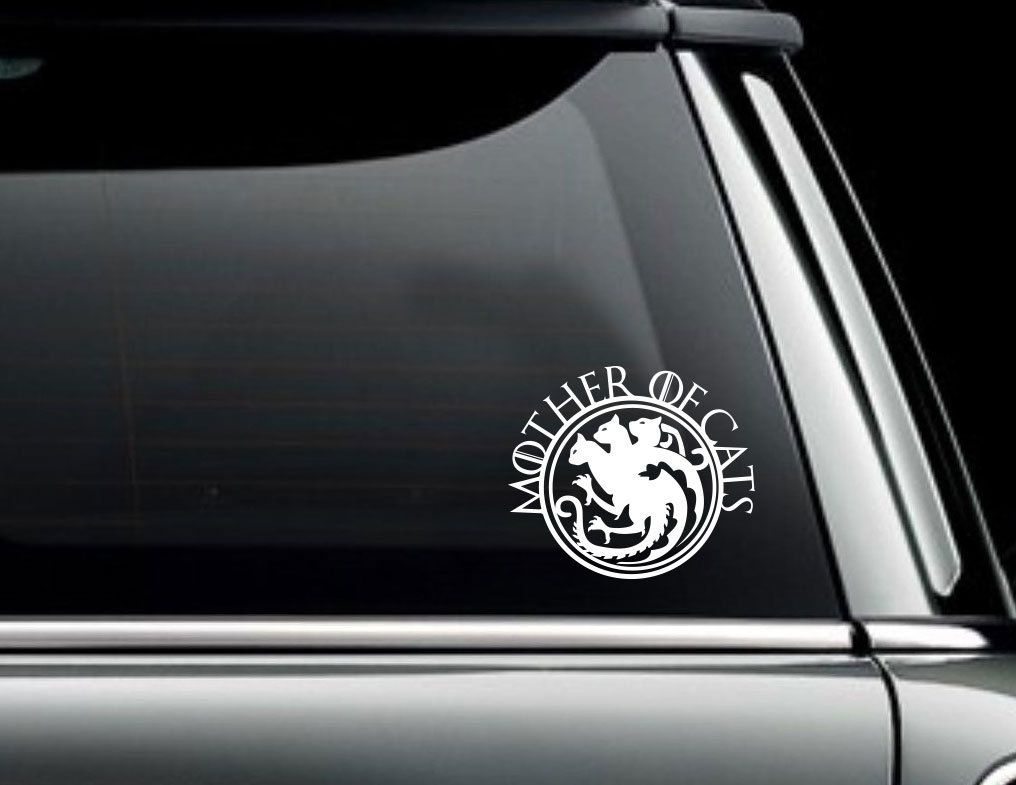 Game Of Thrones Car Decal Mother Of Cats Sticker For