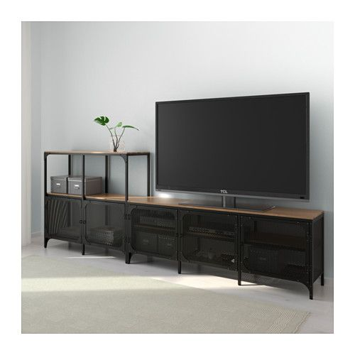 tv m bel kombination fj llbo schwarz stundenden bude pinterest m bel tv m bel und wohnzimmer. Black Bedroom Furniture Sets. Home Design Ideas