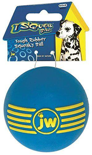Jw Pet Company Isqueak Ball Rubber Dog Toy Medium Colors Vary