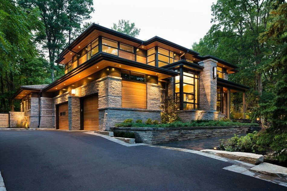 Modern home designs can be cozy too Modern Homes Pinterest