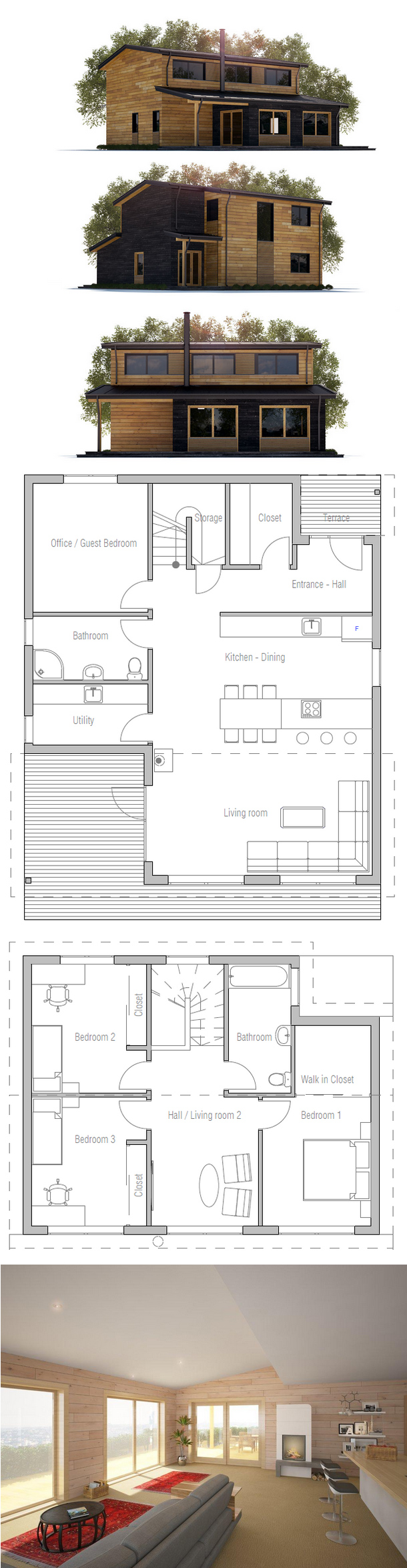 House plan my house pinterest house architecture and smallest