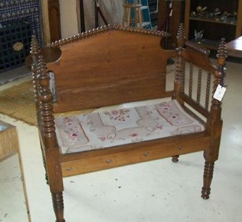 Bench from an old twin bed!