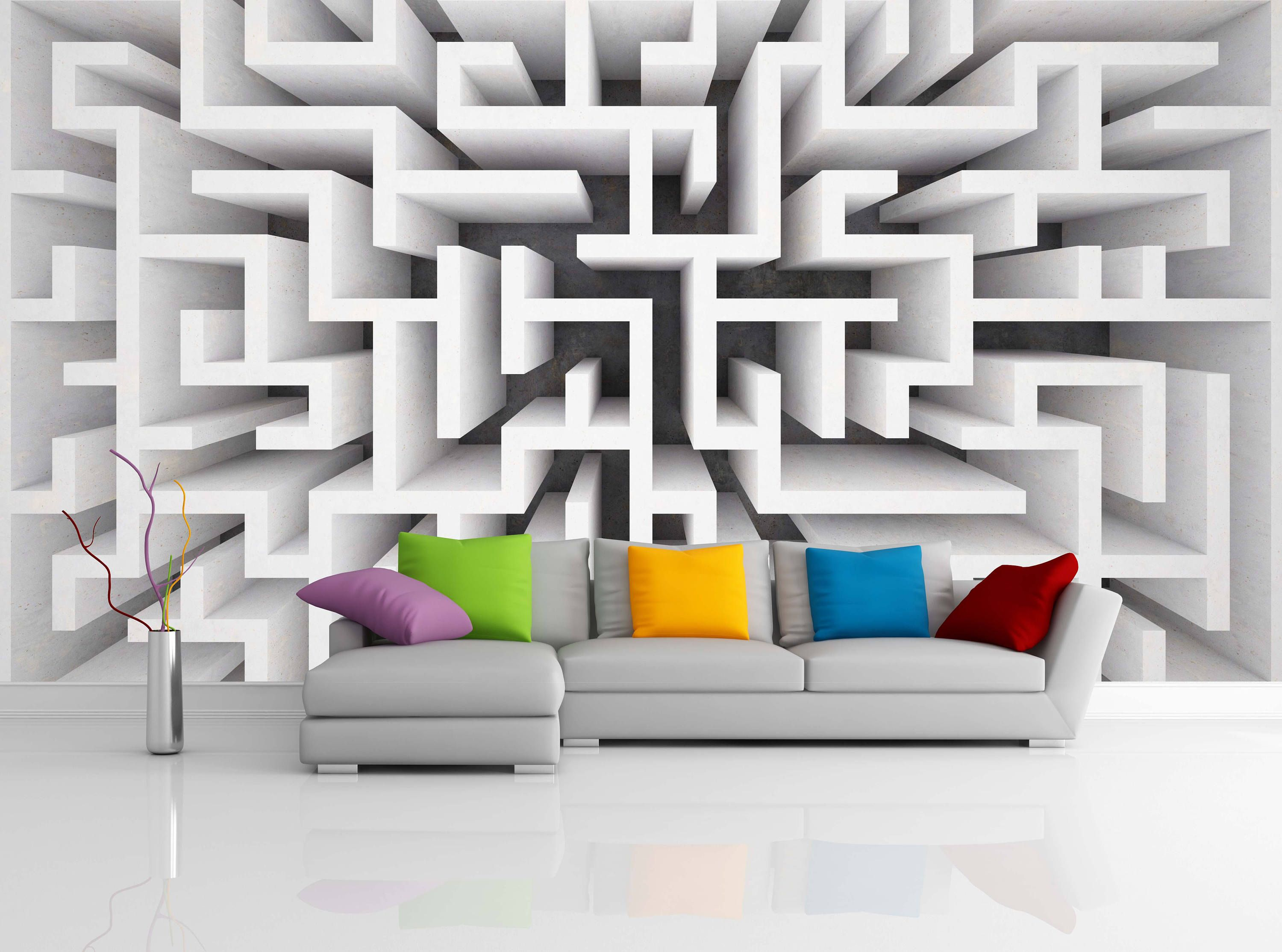 Removable Wallpaper Mural Peel Stick 3d Rendering Maze In Top View By Uniqstiq On Etsy Removable Wallpaper Mural Wallpaper Colorful Wallpaper
