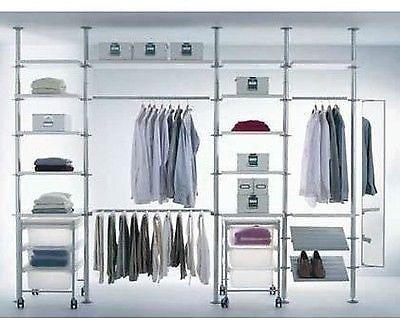 ikea stolmen storage shelves system walk in wardrobe. Black Bedroom Furniture Sets. Home Design Ideas