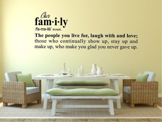 Dictionary Definition Of Family Live For Laugh With Love Entry Living Room Hall Vinyl Wall Art