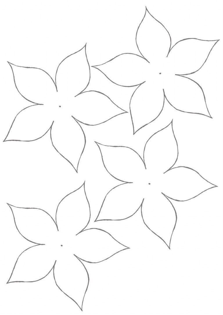 Flower Template for Children's Activities #feltflowertemplate