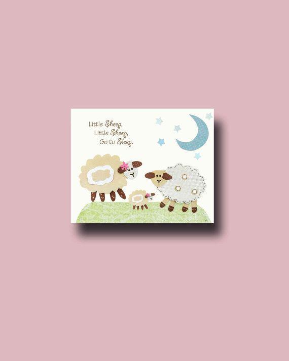 Little Sheep Lamb Nursery Decor Uni Baby By Boutiqueblu 10 00