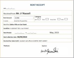 Rent Receipt  Microsoft Templates    Receipt Template