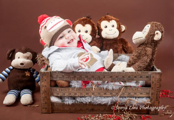 Five Month Old Sock Monkey By: Sonya Lira Photography Manvel, Texas