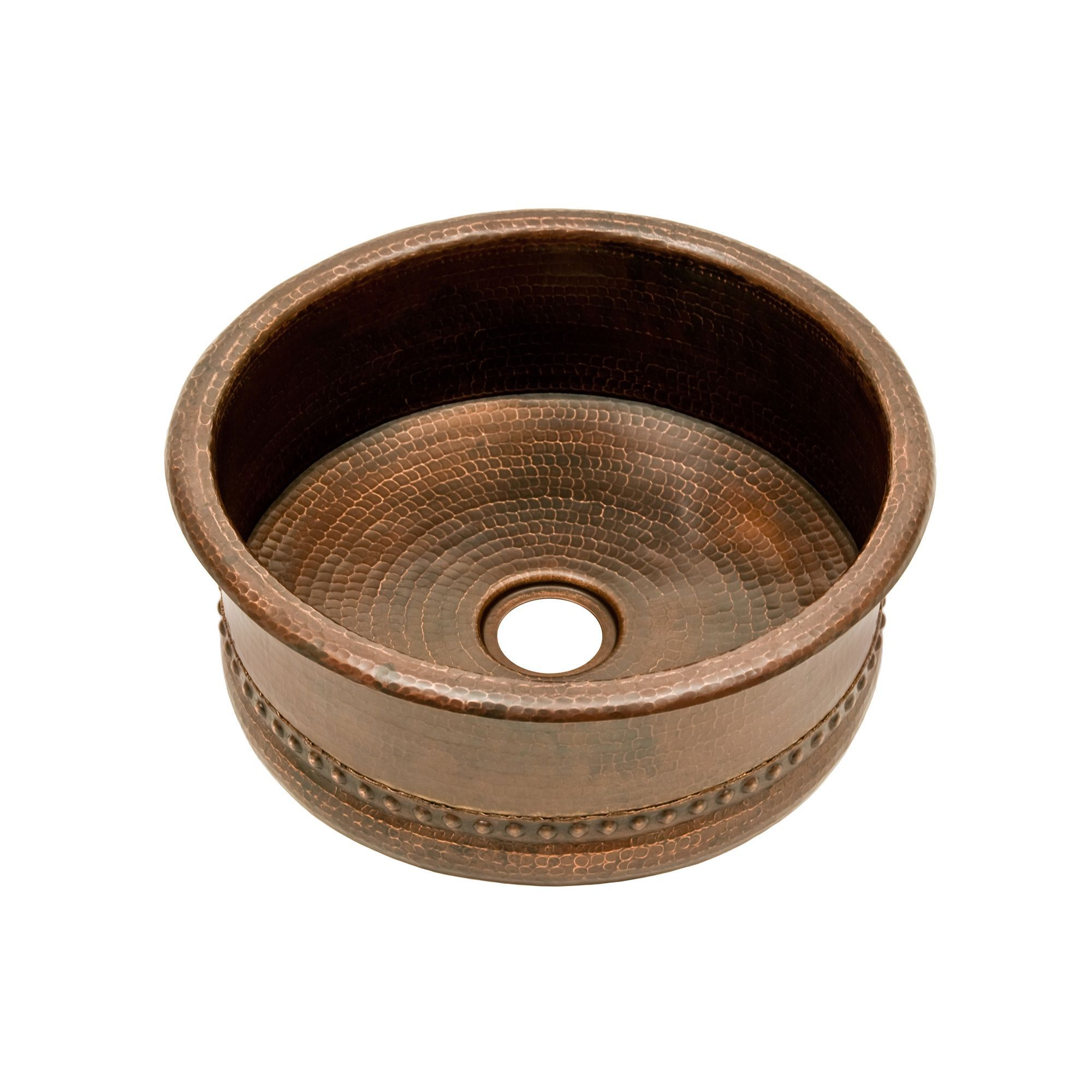 premier copper products 15 inch round bar vessel tub sink 2 bar