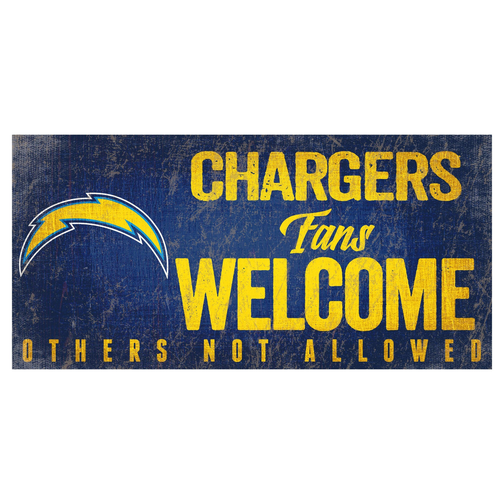 NFL Los Angeles Chargers Fan Creations Fans Welcome Sign | Nfl los ...
