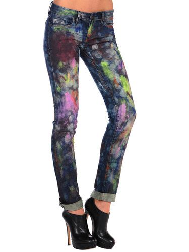 Cool patterned skinny jeans – Global fashion jeans collection