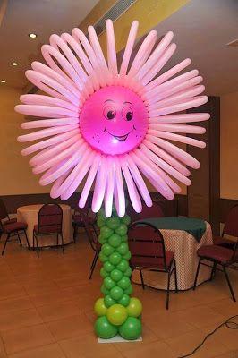Como Hacer Flores Con Globos Decoracion Con Globos Los Globos - Como-hacer-flores-de-globos