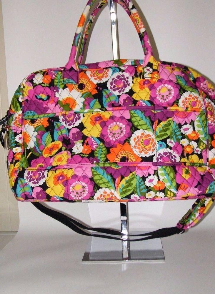 Vera Bradley Large Weekend Bag Tote Quilted Floral Va Va Bloom ... : quilted floral tote bags - Adamdwight.com