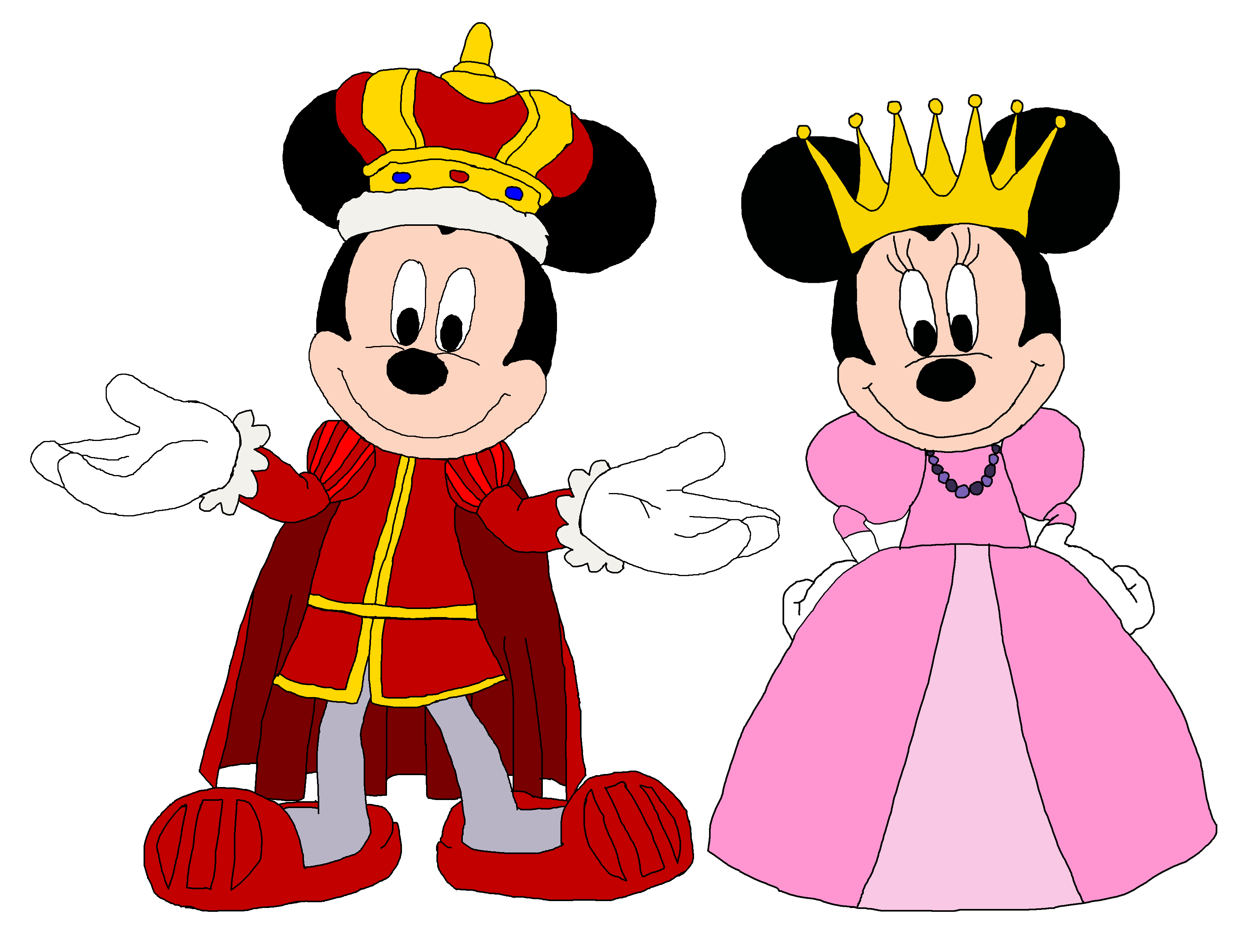 King Mickey And Queen Minnie The Prince And The Pauper Mickey Mouse And Friends Mickey Mickey Mouse