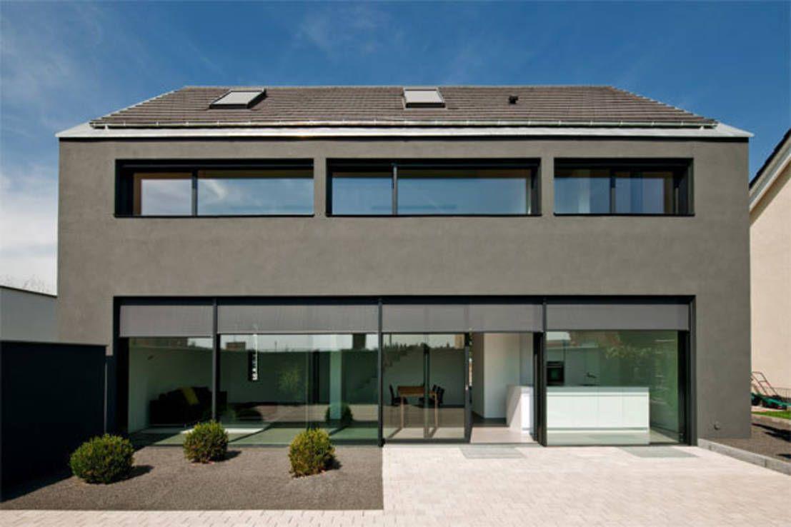360°: kleines, modernes haus | minimalistisches haus, architekten ... - Moderne Haus Architektur