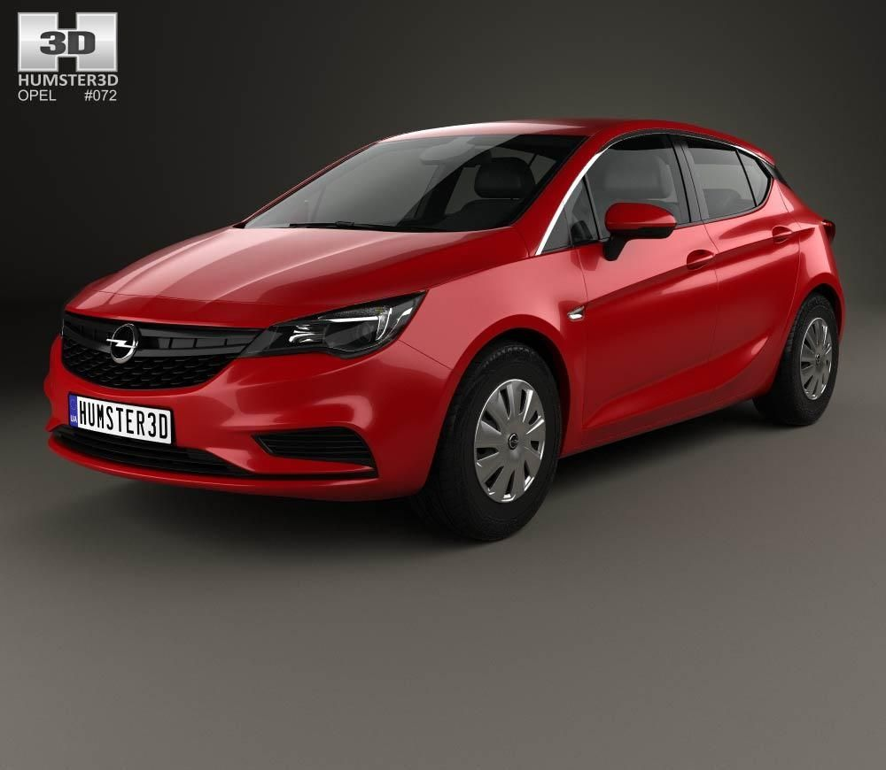 Opel Astra K Selection 2016 3D Model