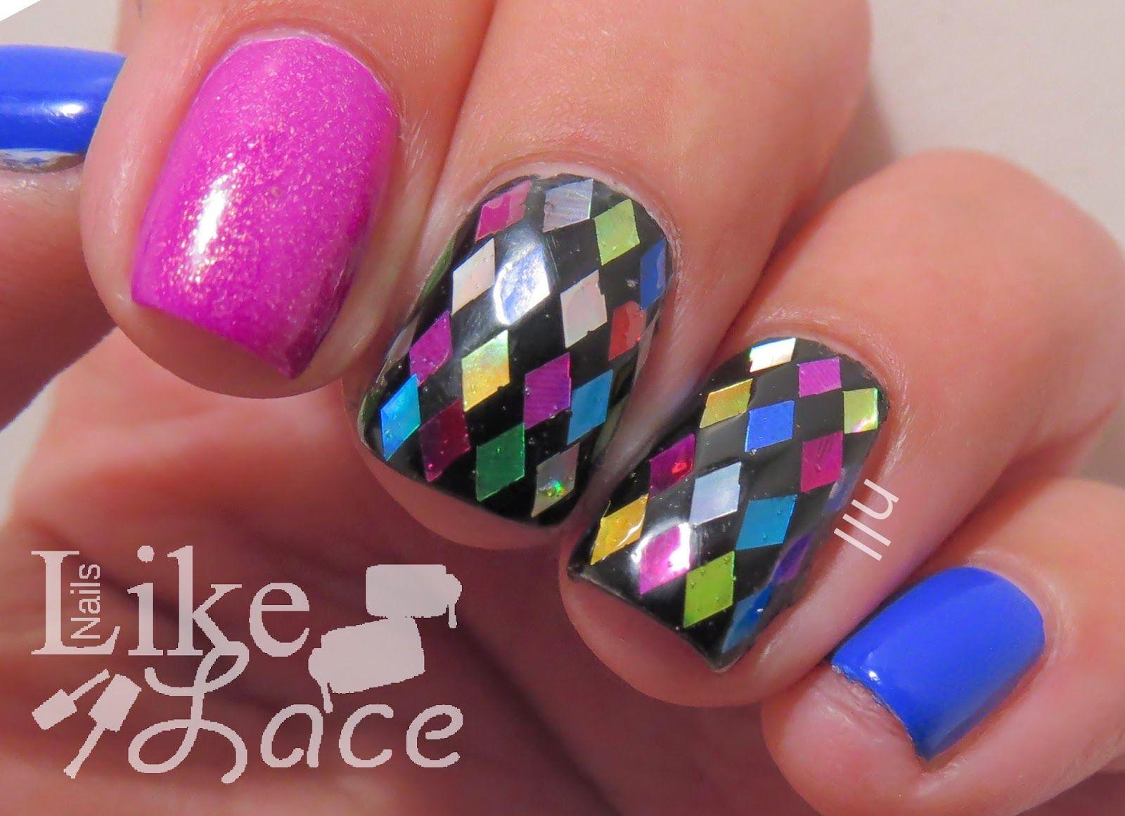 NailsLikeLace #prom nail art
