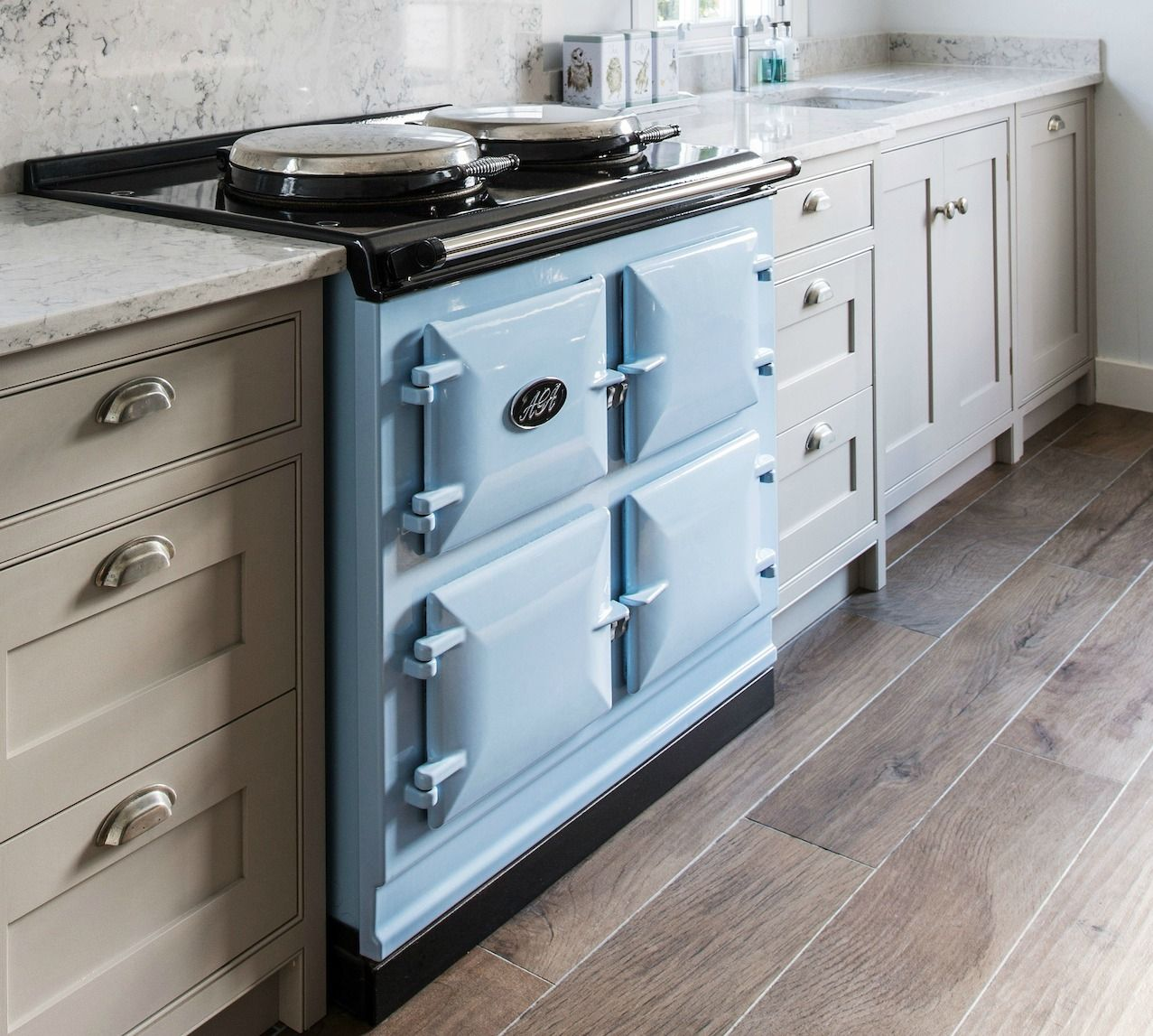 A Classic AGA In Duck Egg Blue, Amongst Our Wellsdown