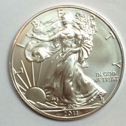 2014 1 oz Silver American Eagle BU Brilliant Uncirculated Coin .999 1oz