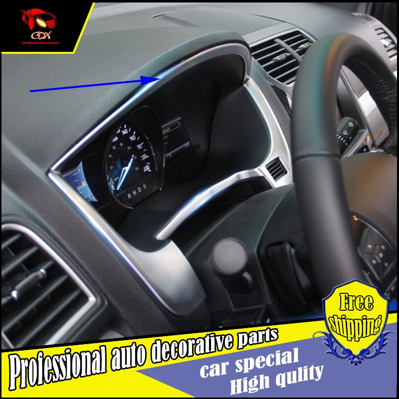 72.00$  Buy here - http://alix9c.worldwells.pw/go.php?t=32772567995 - Car styling ABS Car Instrument Gauge Panel Cover Trim Sticker For Ford Explorer 2016 Dashboard Accent Bezeul Frame decorate