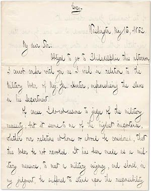 Contemporary Copy Of ChaseS Famous Letter To Abraham Lincoln In