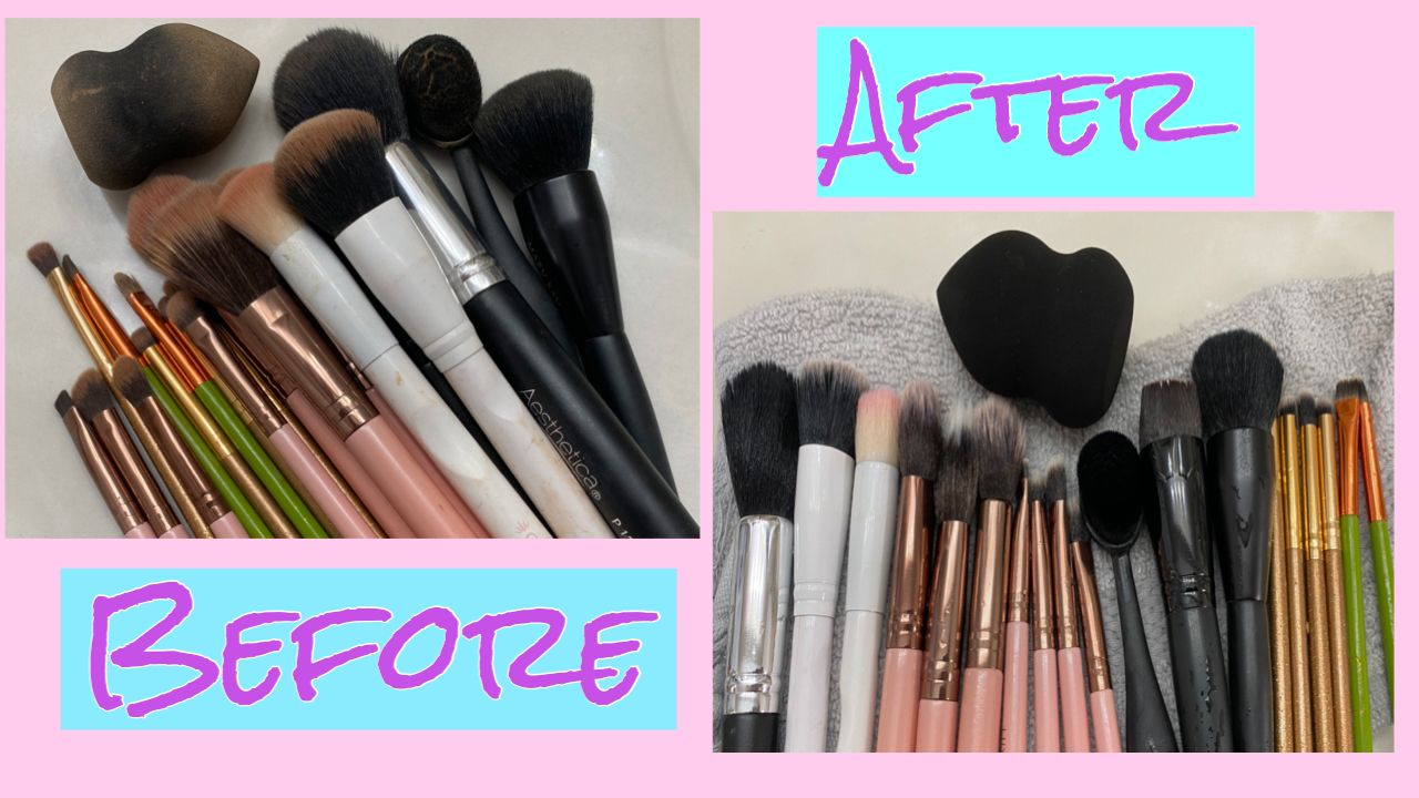 Easy and inexpensive way to clean makeup brushes! in 2020