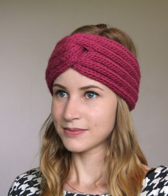 My take on the turban trend! It is cushy and warm and will get me through winter in style. The pattern is available here.