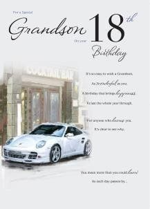 Special Grandson 18th Birthday Card ICG Amazonco