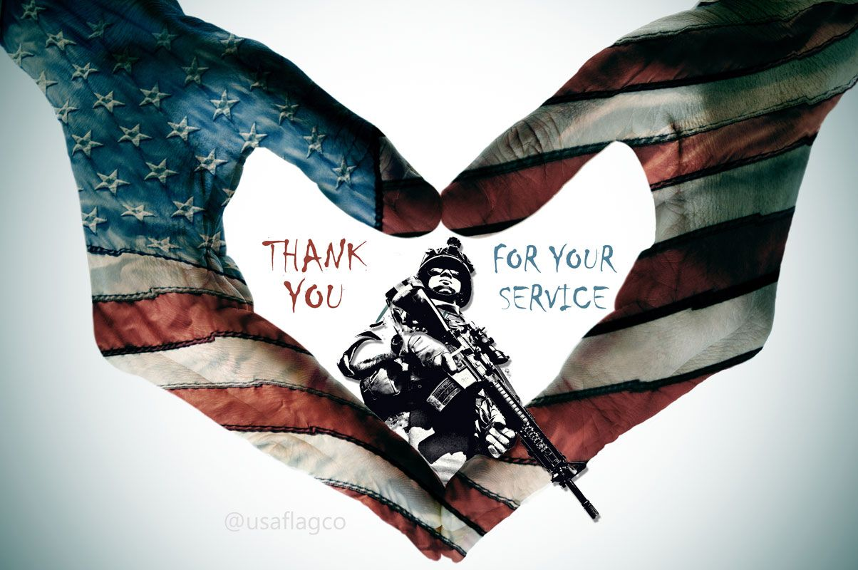 Thank You For Serving Our Country Protecting Our Freedoms