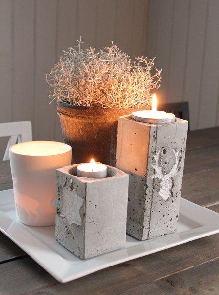 Concrete Candle Holder Frk Elton Betong Diy Betong Diy Hobby Gjor Det Selv