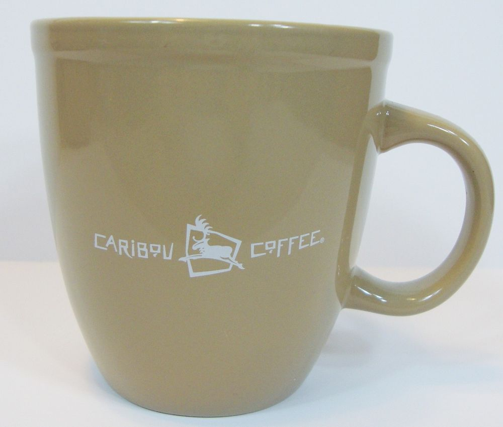 Caribou Coffee Oversized Brown Mug Cup Life is Short Stay Awake For It 16-18 oz #CaribouCoffee $25.99