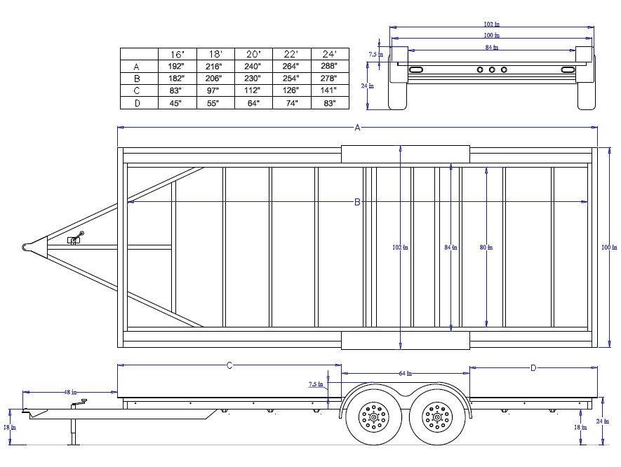 Iron Eagle 8 5 X 16 5 2k Pad Series Trailer Tpad 10k16ee Iron Eagle Trailer Diy Aluminum Trailer
