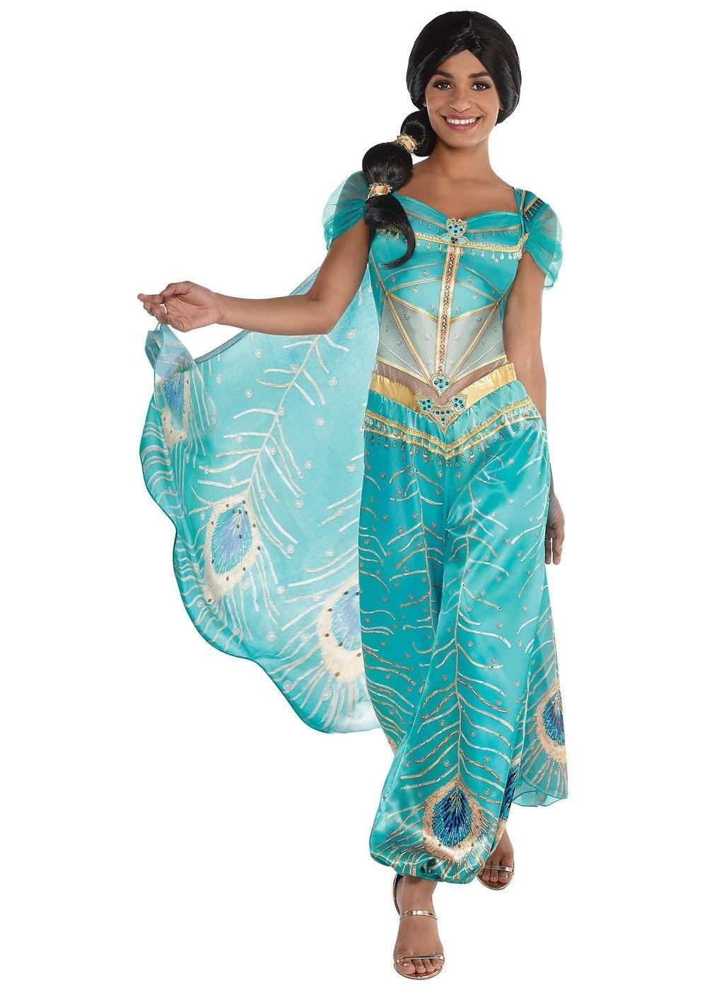 Disney Aladdin Jasmine Costume en 2020 Traje de jazmín