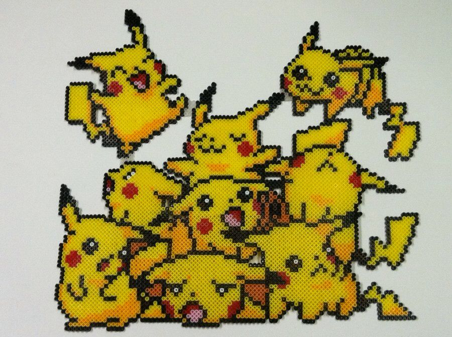 pikachu perler anime pinterest perler beads and beads