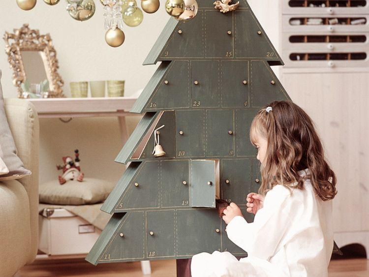 Tannenbaum Adventskalender Holz.Diy Tutorial Tannenbaum Adventskalender Ze Dřeva Dinker Přes