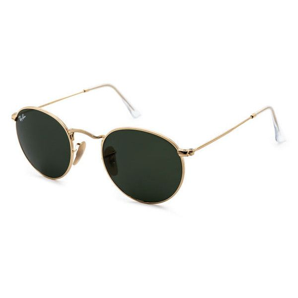 Ray-Ban RB3447 Round Metal 001 Sunglasses ( 125) ❤ liked on Polyvore  featuring accessories, eyewear, sunglasses, circle sunglasses, rayban,  rayban ... a557e43143a8